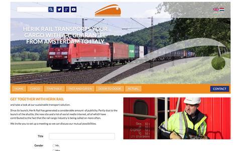 Screenshot of Contact Page herikrail.com - Contact -  Herik Rail - captured June 26, 2016