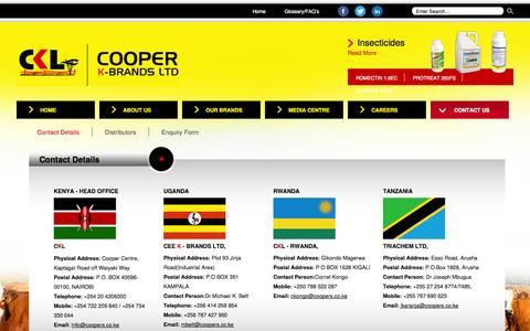 Screenshot of Contact Page coopers.co.ke - Cooper K-Brands Ltd - Contact Details - captured Oct. 3, 2014