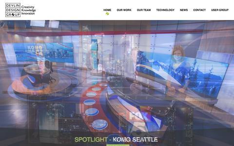 Screenshot of Home Page ddgtv.com - Devlin Design Group | - captured Feb. 9, 2016