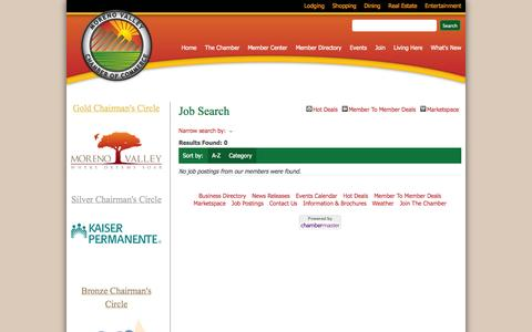 Screenshot of Jobs Page movalchamber.org - Job Search - Moreno Valley Chamber of Commerce - Moreno Valley, CA - captured Oct. 26, 2014