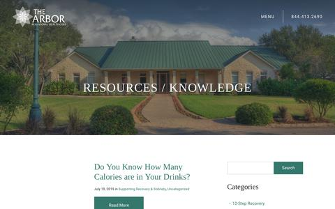 Screenshot of Blog thearbor.com - Addiction Recovery Blog | The Arbor Behavioral Healthcare - captured July 20, 2019