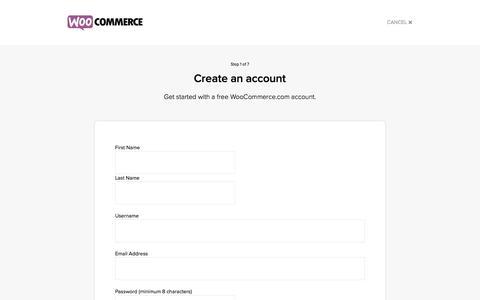 Screenshot of Signup Page woocommerce.com - Get Started - WooCommerce - captured Aug. 12, 2016