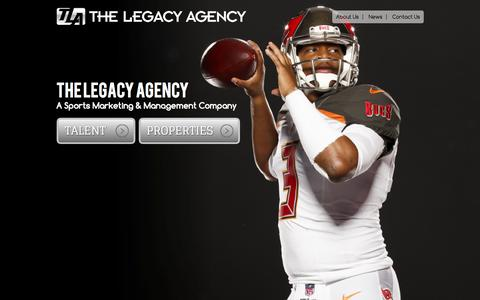 Screenshot of Home Page legacy-agency.com - The Legacy Agency - captured Sept. 4, 2015