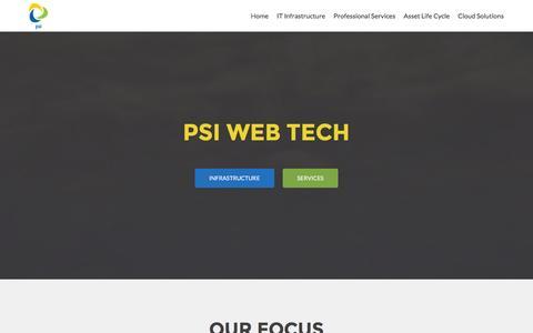 Screenshot of Home Page psiwebtech.com - PSI WEB TECH | Expert Solutions - captured Jan. 23, 2016