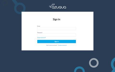Screenshot of Login Page azuqua.com - One Cloud to Connect Them All | Azuqua - captured July 13, 2018
