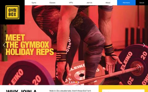 Screenshot of Home Page gymbox.com - Gyms in London - Gymbox - London's Best Equipped Gym - captured July 3, 2016