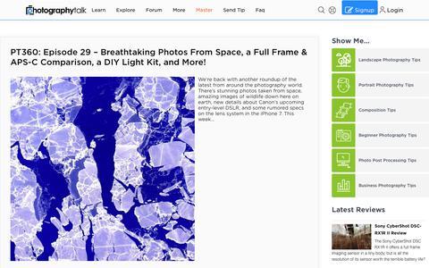Screenshot of Blog photographytalk.com - Photography Blog - captured July 19, 2019