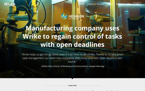 Hexagon Metrology Success Story | Wrike Customers