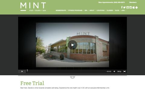 Screenshot of Trial Page mintdc.com - Free Trial | MINT DC | MINT DC - captured Dec. 1, 2015