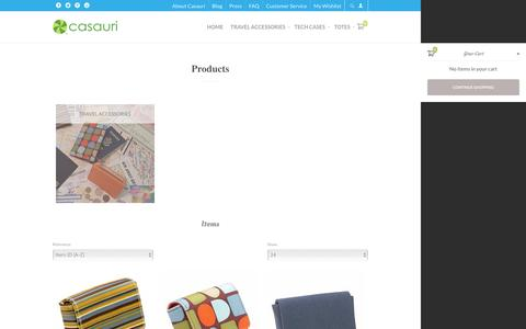 Screenshot of Products Page casauri.com - Products - captured July 11, 2016