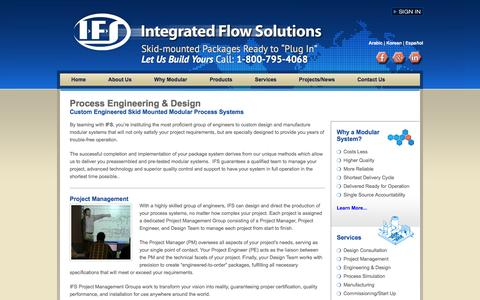 Screenshot of Services Page ifsolutions.com - Process Engineering & Design Services - IFS - captured Nov. 26, 2016