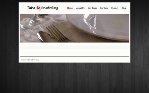 Screenshot of Home Page table12marketing.com - Table 12 Marketing | restaurant marketing and hospitality consulting - captured Oct. 1, 2014
