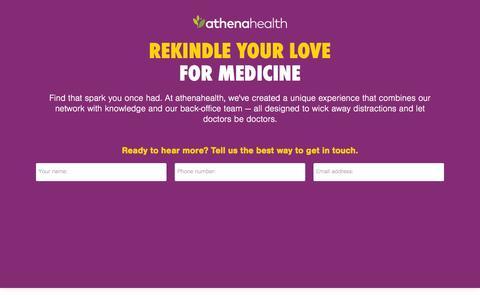 Screenshot of Landing Page athenahealth.com - Let Doctors Be Doctors | athenahealth - captured Feb. 10, 2016