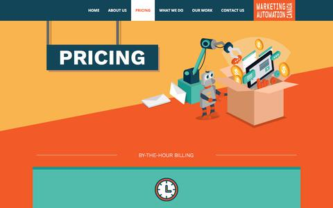 Screenshot of Pricing Page marketing-automation.ca - Marketing Automation Canada | Pardot Consultant – Pricing - captured July 6, 2018