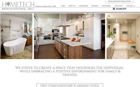 Screenshot of Home Page htrenovations.com - Kitchen and Bath Remodeling   Hometech Renovations - captured Jan. 31, 2016