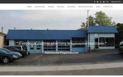 Screenshot of Home Page automotive-properties.com - Automotive-Properties.com | Home Page - captured July 31, 2018