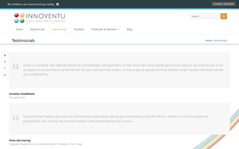 Screenshot of Testimonials Page innoventu.eu - Testimonials | INNOVENTU - captured May 27, 2017