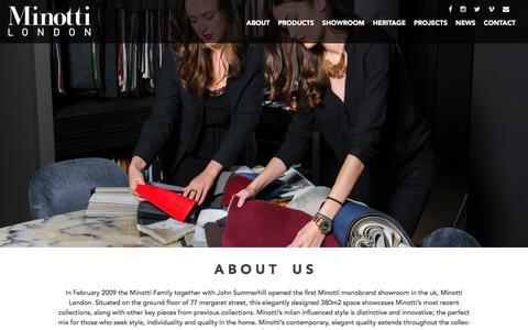 Screenshot of About Page minottilondon.com - About   Minotti London - captured Feb. 13, 2016
