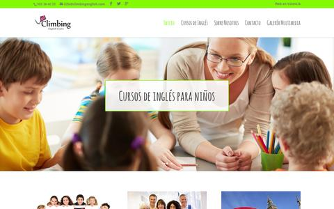 Screenshot of Home Page climbingenglish.com - Climbing English | Tu academia de inglés en Alicante - captured Oct. 9, 2015