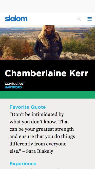 Screenshot of Team Page  slalom.com - Chamberlaine Kerr | Slalom