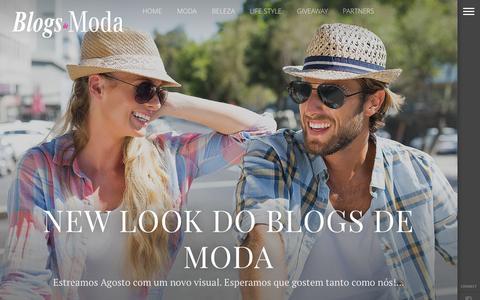 Screenshot of Home Page blogsdemoda.pt - Melhores Blogs de Moda Beleza LifeStyle em Portugal - captured Aug. 8, 2015