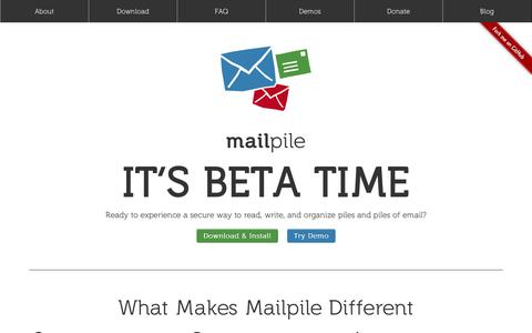 Screenshot of About Page mailpile.is - Mailpile: Let's take e-mail back! - captured Dec. 16, 2014