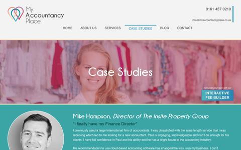 Screenshot of Case Studies Page myaccountancyplace.co.uk - Case Studies - My Accountancy Place - captured Sept. 30, 2014
