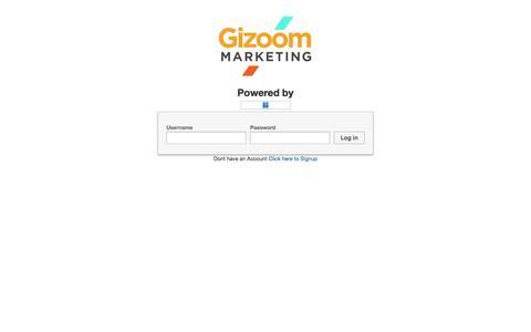 Screenshot of Login Page gizoom.com - Gizoom Video Marketing | Login - captured Oct. 1, 2014