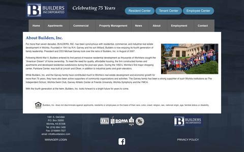 Screenshot of About Page buildersinc.com - About Builders, Inc. - Builder's Inc. - captured Jan. 9, 2017