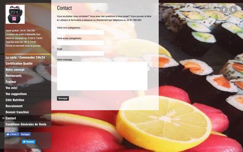 Screenshot of Contact Page love-sushi.fr - Contacter Love-Sushi.fr   Love-Sushi.fr - captured July 7, 2018