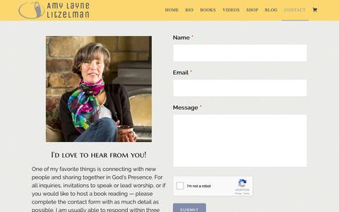 Screenshot of Contact Page amylaynelitzelman.com - Contact - Amy Layne Litzelman - captured May 30, 2017