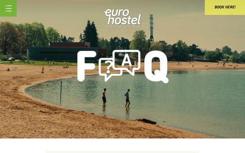 Screenshot of FAQ Page eurohostel.eu - FAQ - Eurohostel - captured July 21, 2018