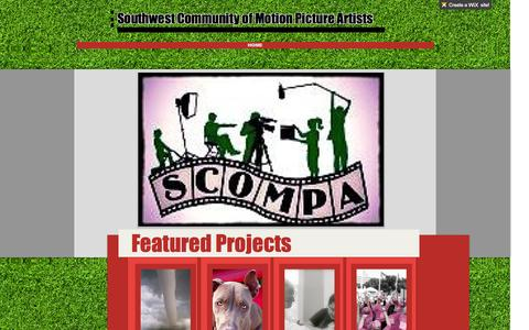Screenshot of Home Page scompa.org - Texas Film Community - captured Oct. 6, 2014