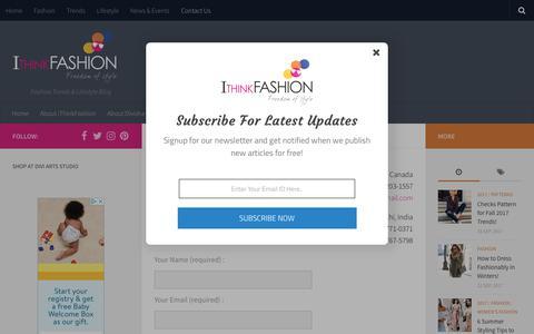 Screenshot of Contact Page ithinkfashion.com - Contact US - i Think Fashion - captured Sept. 20, 2018