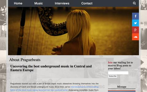 Screenshot of About Page praguebeats.com - About Praguebeats - Underground music from Central and Eastern Europe - captured Sept. 30, 2014