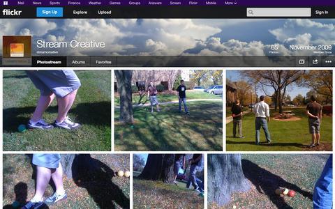 Screenshot of Flickr Page flickr.com - Flickr: streamcreative's Photostream - captured Oct. 25, 2014