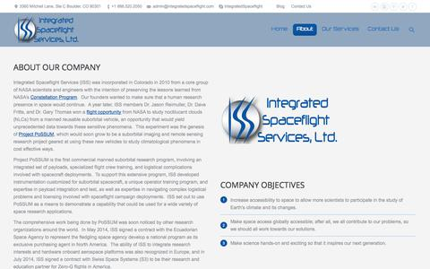 Screenshot of About Page integratedspaceflight.com - Integrated Spaceflight Services |   About Us - captured Nov. 3, 2014