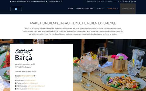 Screenshot of Contact Page barca.nl - Contact - Barça - captured Oct. 5, 2018