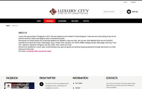 Screenshot of About Page luxurycity.com.sg - About Us - captured Oct. 15, 2017
