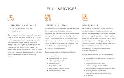 Screenshot of Services Page jenniferbutler.design - Services — Jennifer Butler Design - captured July 16, 2018