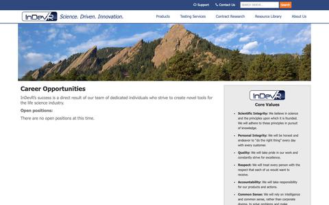 Screenshot of Jobs Page indevr.com - InDevR Careers|View Available Opportunities at our Company - captured Oct. 10, 2018