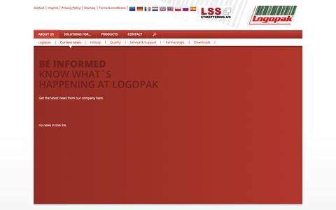Screenshot of Press Page logopakcorp.com - Logopak: News - captured Nov. 11, 2018