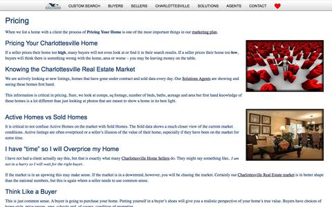 Screenshot of Pricing Page charlottesvillesolutions.com - Pricing Your Charlottesville Home - Charlottesville Blog - Charlottesville Solutions - captured Sept. 29, 2014