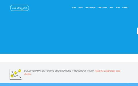 Screenshot of Home Page laughology.co.uk - Home - Learning & development for happy and productive organisations - captured Dec. 7, 2015