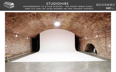Screenshot of Home Page studiohire.com - STUDIOHIRE - Home - captured Oct. 1, 2018
