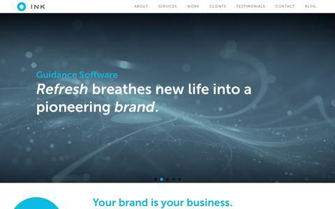 Screenshot of Home Page inkagency.com - INK Agency - captured Dec. 8, 2015