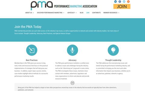 Screenshot of Signup Page thepma.org - Join the PMA Today | The PMA - captured June 29, 2017