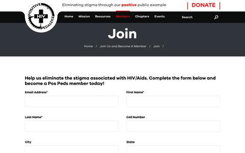 Screenshot of Signup Page pospeds.org - Join - Positive Pedalers - captured Oct. 28, 2018