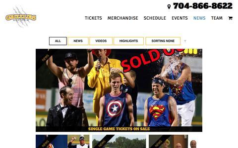 Screenshot of Press Page gastoniagrizzlies.com - News - Gastonia Grizzlies - captured May 15, 2017