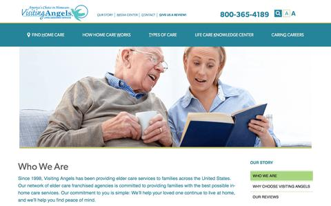 Screenshot of About Page visitingangels.com - Elder Care Services | Senior Home Care - captured Nov. 3, 2019